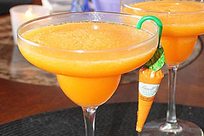 Carrot Margaritas closeup | 2 Cookin Mamas