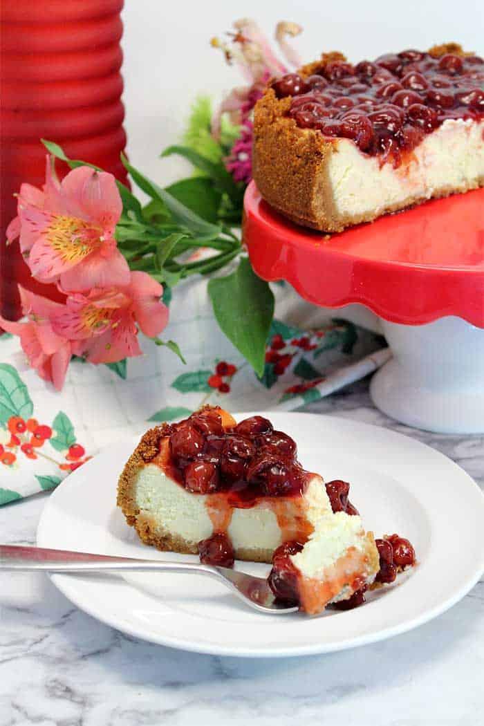 New York Cheesecake with cherries 2   2 Cookin Mamas