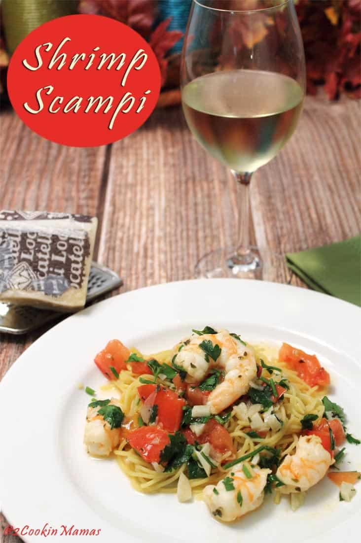 Shrimp Scampi pin | 2CookinMamas - It's fresh, healthy, delicious & quick. Perfect dinner for a busy night.