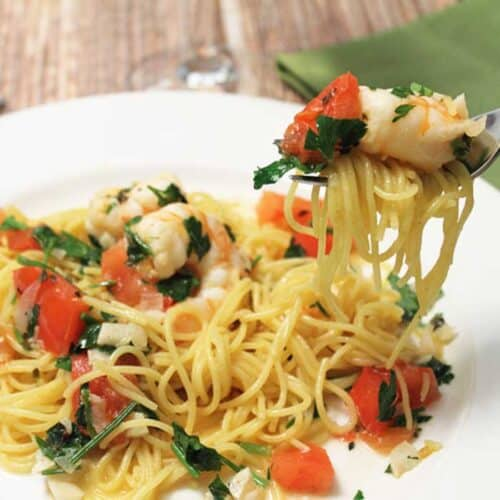 Shrimp Scampi square | 2 Cookin Mamas