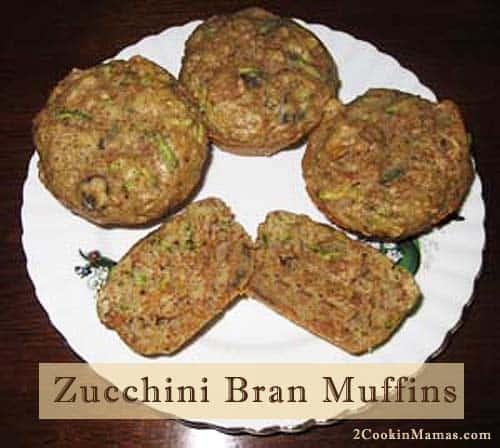 Zucchini Bran Muffins| 2CookinMamas