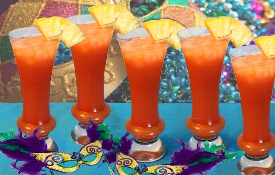 Mardi Gras Hurricane | 2 Cookin Mamas