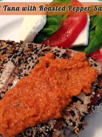 Ahi Tuna w Roasted Pepper Sauce | 2CookinMamas