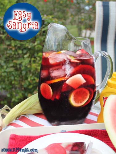 Easy Sangria | 2CookinMamas