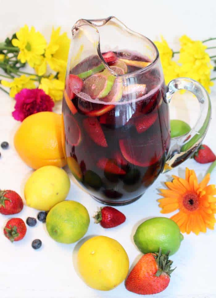 Easy Sangria pitcherful | 2 Cookin Mamas
