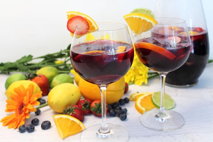 Easy Sangria served | 2 Cookin Mamas