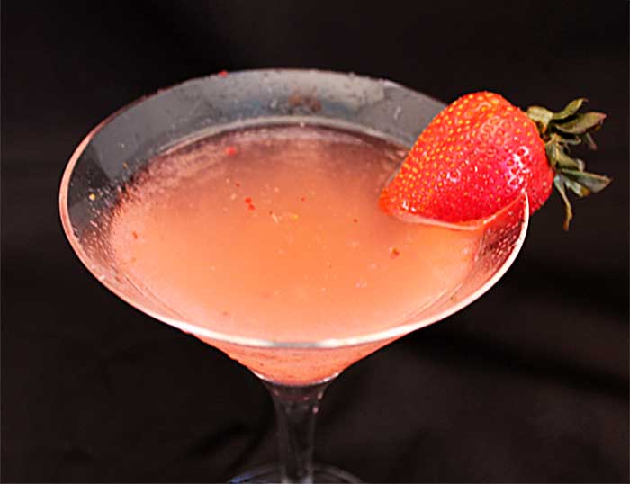 Classic Martinis Strawberry Mint Martini closeup | 2 Cookin Mamas
