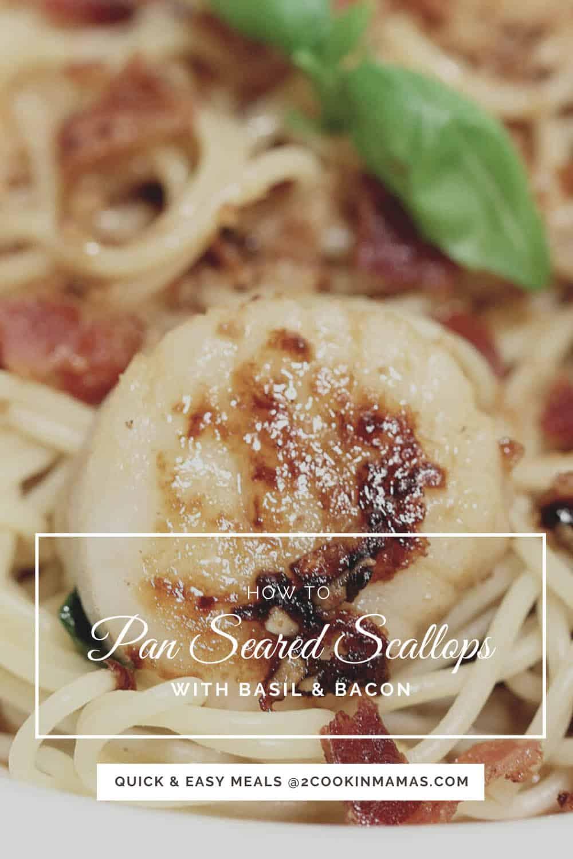 Pan Seared Scallops with Basil