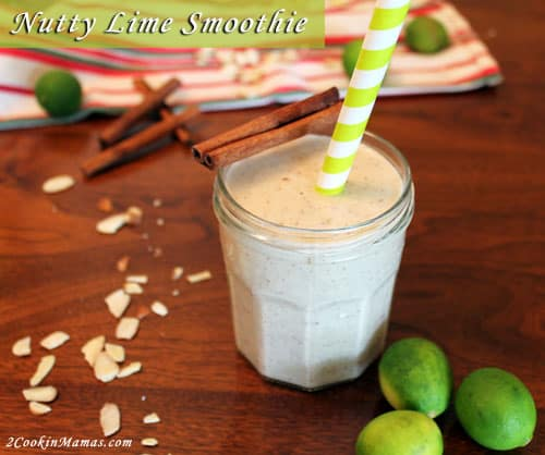 Nutty Lime Smoothie | 2CookinMamas