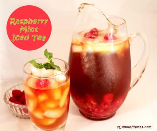 Raspberry Mint Iced Tea | 2CookinMamas