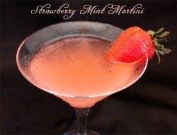 Strawberry Mint Martini | 2CookinMamas