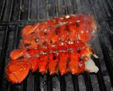 Lobsters on grill