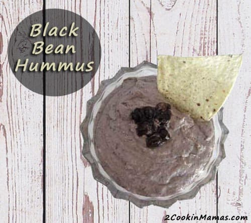 Black Bean Hummus | 2CookinMamas