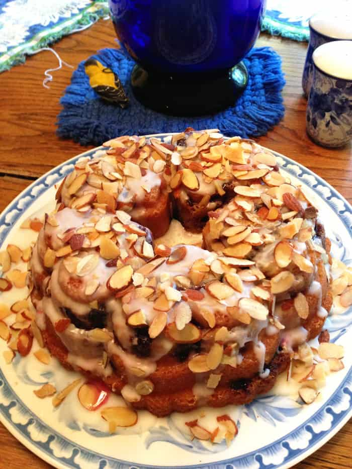 Blueberry Bundt Cake tall | 2 Cookin Mamas