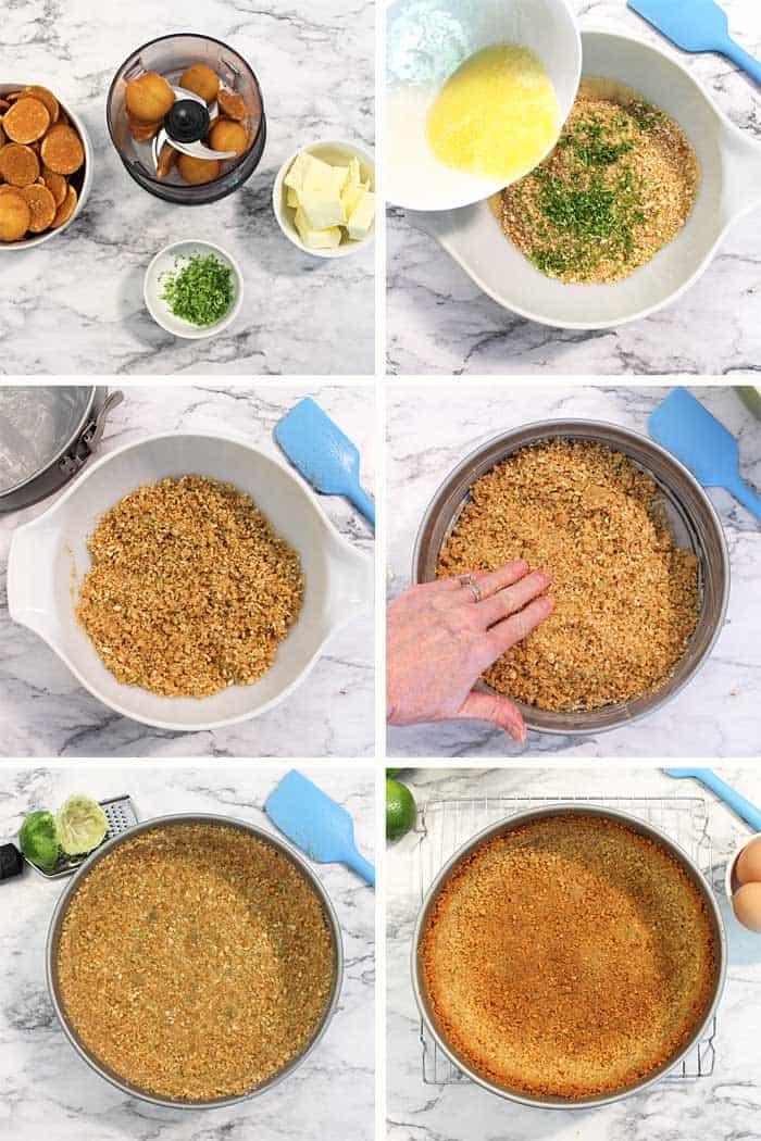 Cookie Crust Steps 1-6