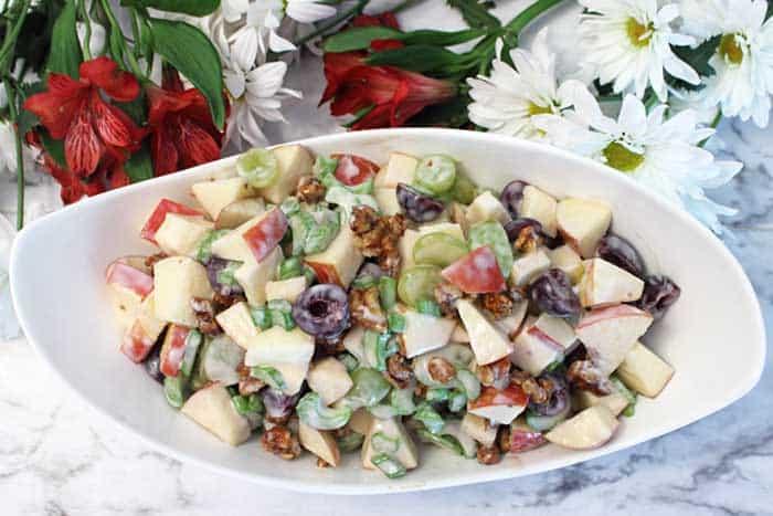 Fruity Waldorf Salad overhead | 2 Cookin Mamas
