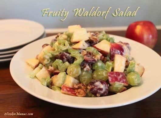 Fruity Waldorf Salad   2CookinMamas
