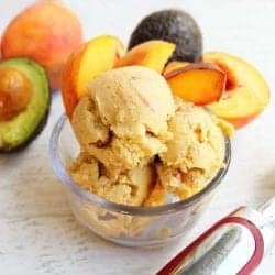 Healthy Peach Ice Cream square | 2 Cookin Mamas