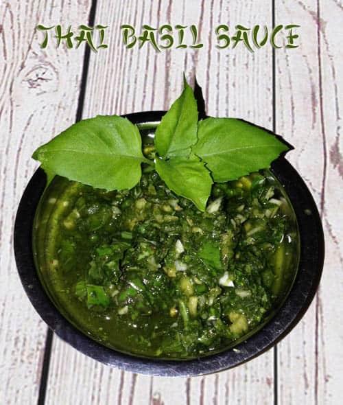 Thai Basil Sauce | 2CookinMamas