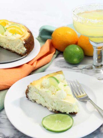 slice of margarita cheesecake square