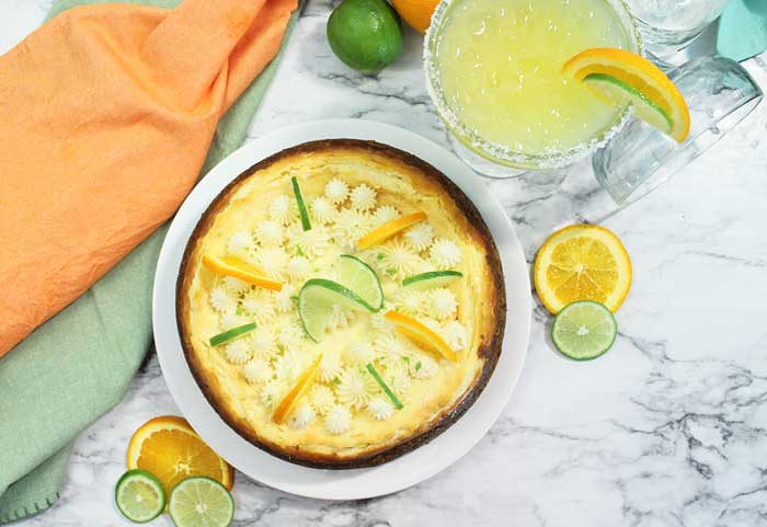 whole Margarita Cheesecake overhead wide