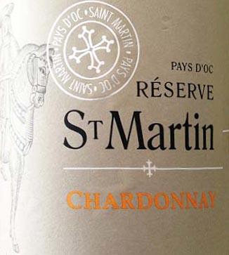 2012 Reserve St Martin Chardonnay