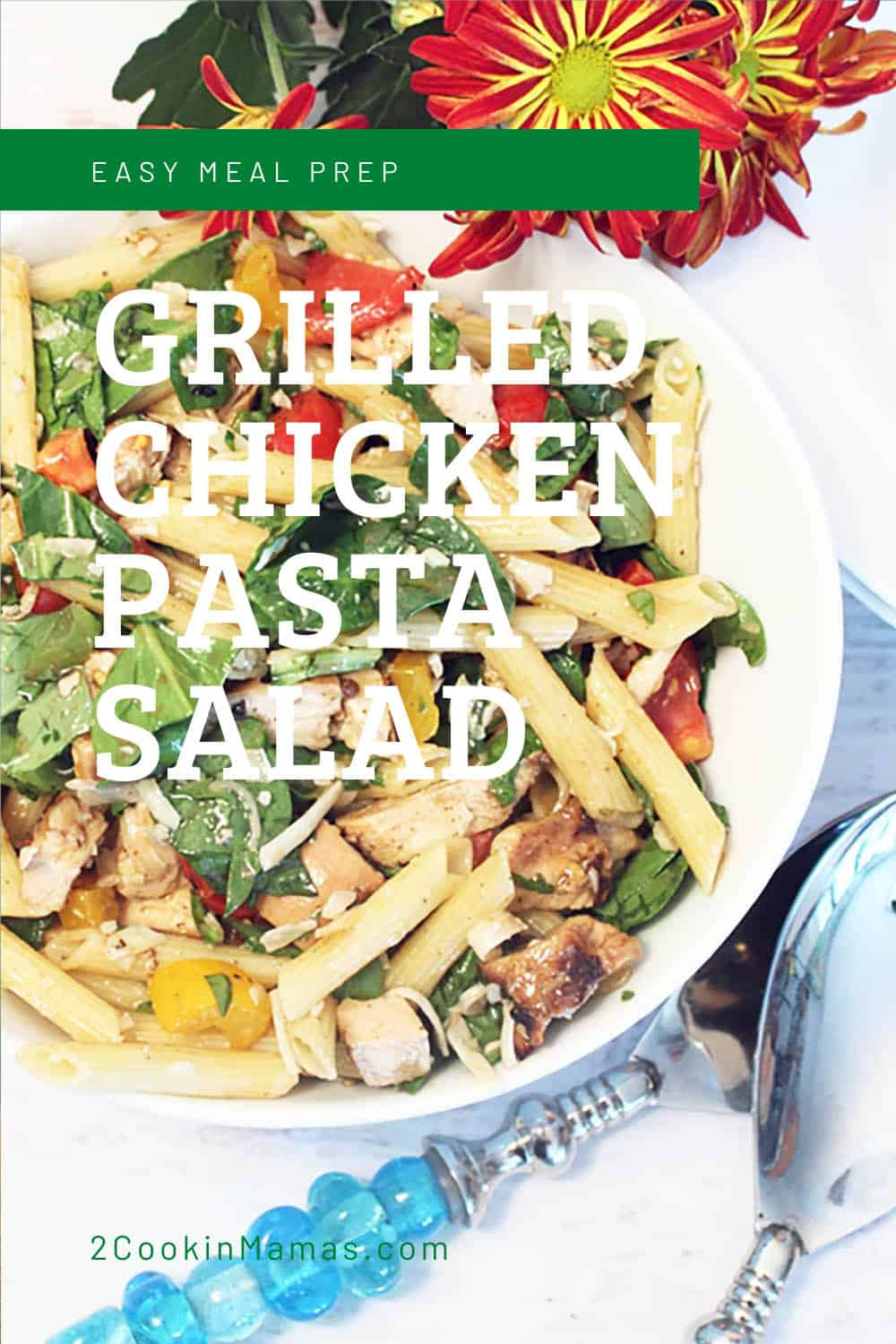 Grilled Chicken Pasta Salad with Balsamic Dressing