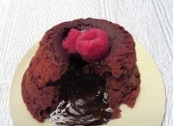 oozing lava cake