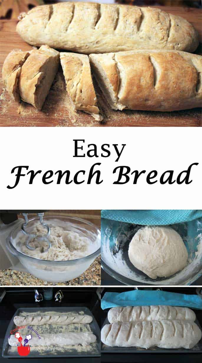 Easy French Bread | 2 Cookin Mamas This homemade bread is not only easy but bakes up delicious every time! If you like your bread soft on the inside & crusty on the outside, this bread is for you!