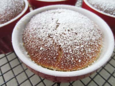 Key Lime Pudding Cake closeup