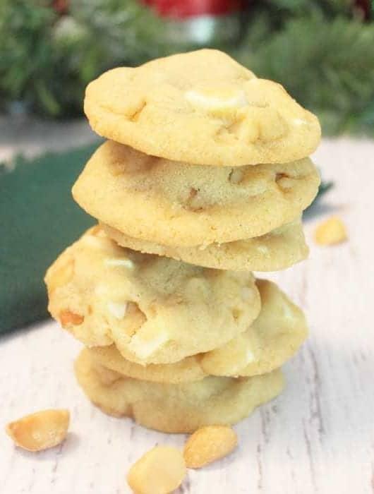 White Chocolate Macadamia Nut Cookies square