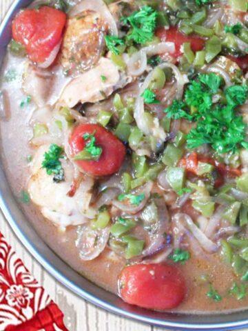 Instant Pot Chicken Cacciatore square
