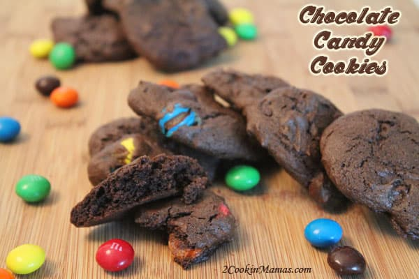 Chocolate Candy Cookies | 2CookinMamas
