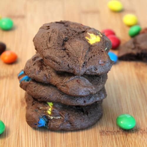 Chocolate Candy Cookies square