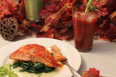 Bloody Mary Salmon and Bloody Maria