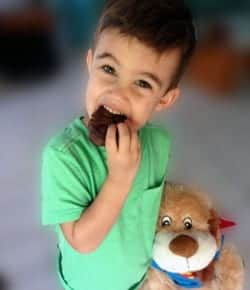 Maxx and his chocolate cookie