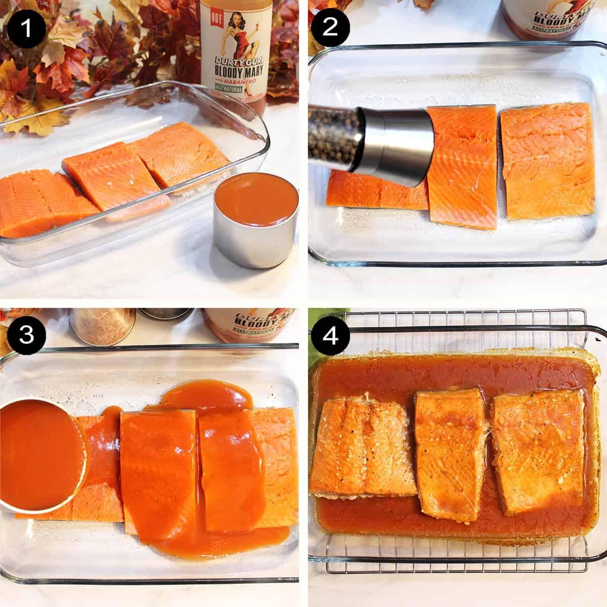 Simple steps to prepare salmon.