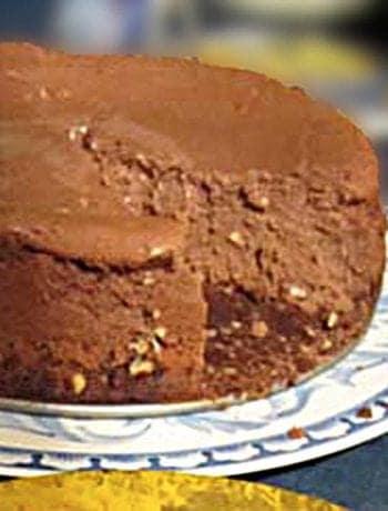 Fudge Truffle Cheesecake square