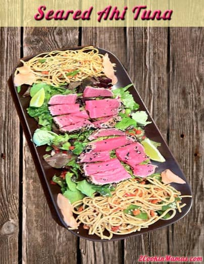 Seared Ahi Tuna main | 2CookinMamas