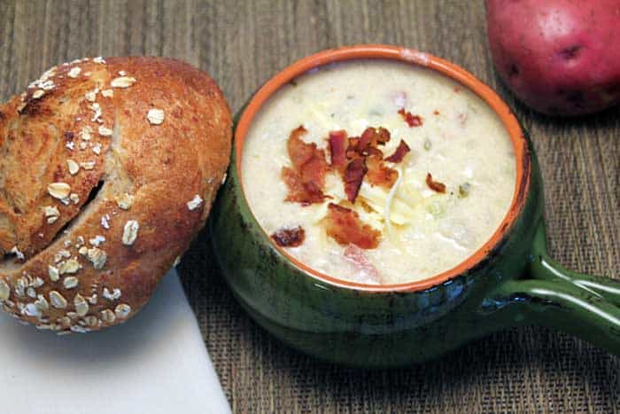 Baked Potato Soup 1 | 2 Cookin Mamas
