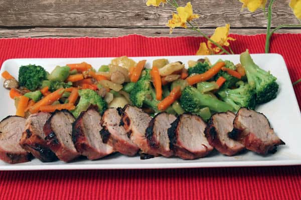 Grilled Asian Pork Loin closeup | 2CookinMamas