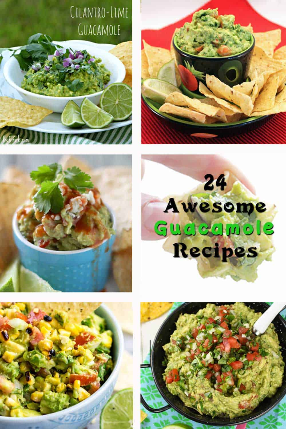 Guacamole Roundup | 2 Cookin Mamas A roundup of 24 awesome guacamole recipes from our favorite bloggers. Everything from grilled to goat cheese to garlic. There is sure to be one you'll love!