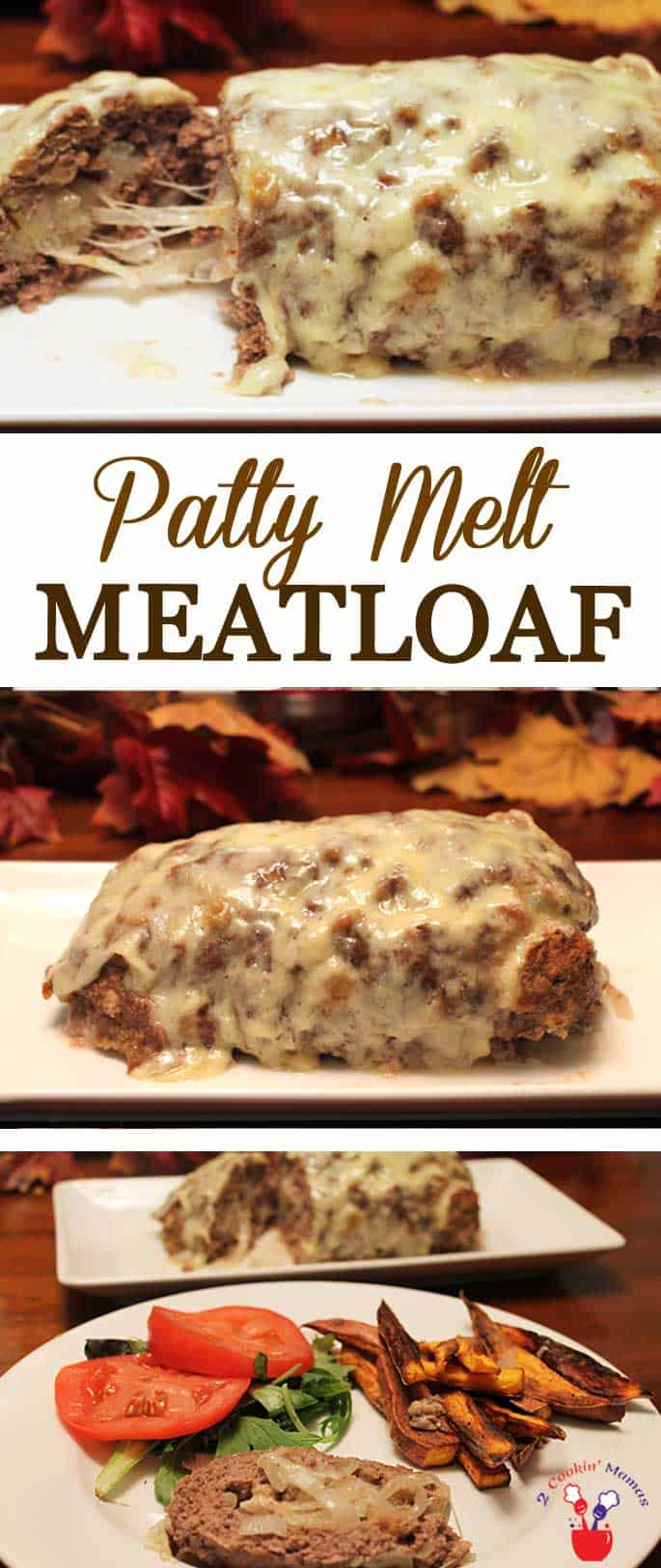 Patty Melt Meatloaf | 2 Cookin Mamas Love Patty Melts? This awesome patty melt meatloaf has all the flavors of your favorite patty melt, sauteed onions, rye bread & cheese, all rolled into one! #dinner #ground beer #recipe