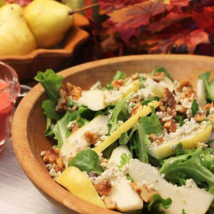 Pear Walnut Gorgonzola Salad square