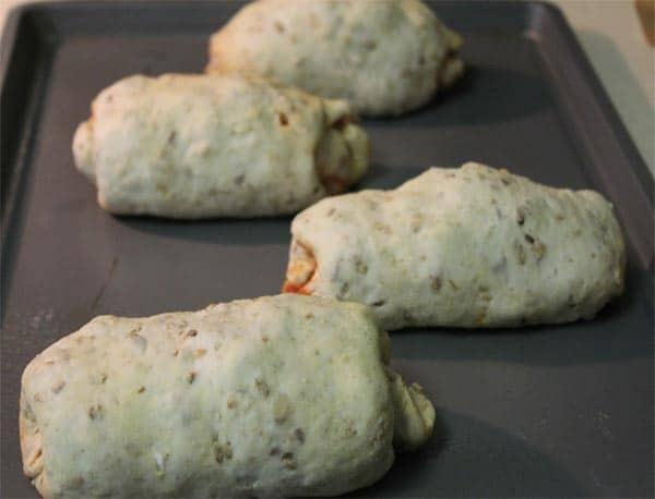 Stromboli ready to bake