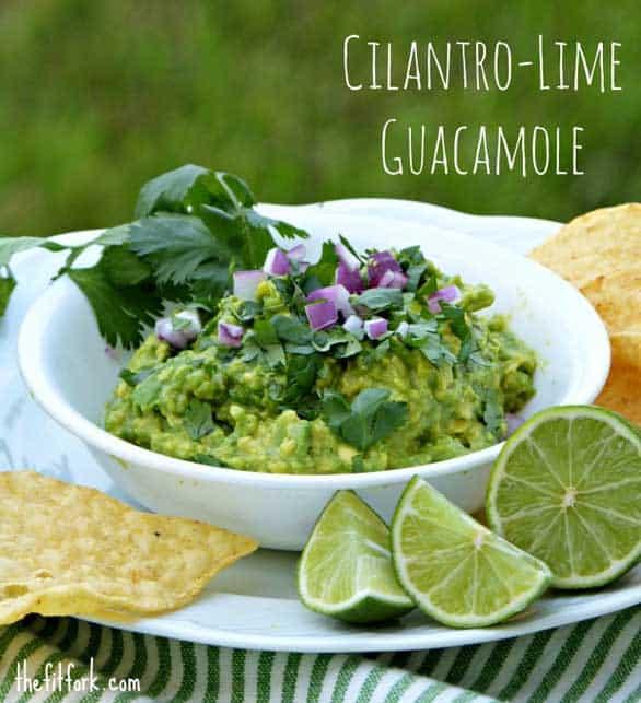 cilantro-lime-guacamole-thefitfork