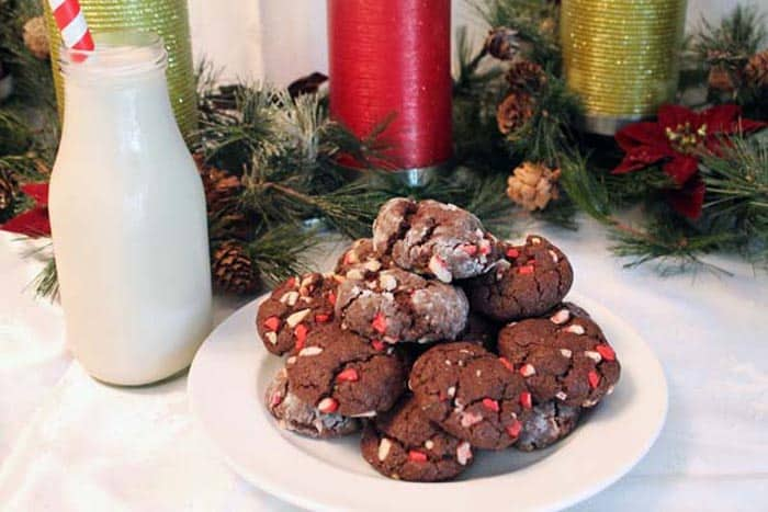 Chocolate Peppermint Drops with milk | 2 Cookin Mamas