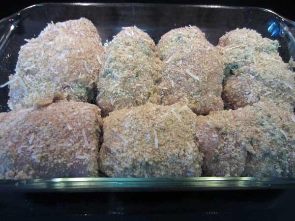 Italian Chicken Rollups prep