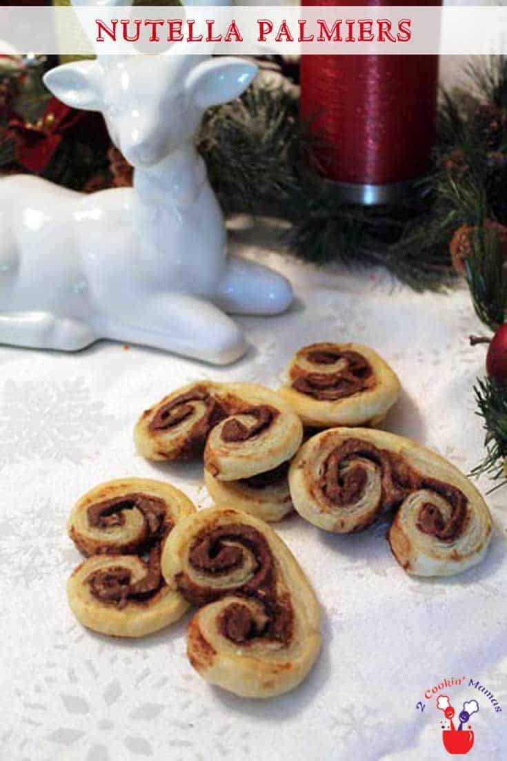 Nutella Palmiers | 2 Cookin Mamas A pastry? A cookie? No matter what you call this, it's delicious! #recipe