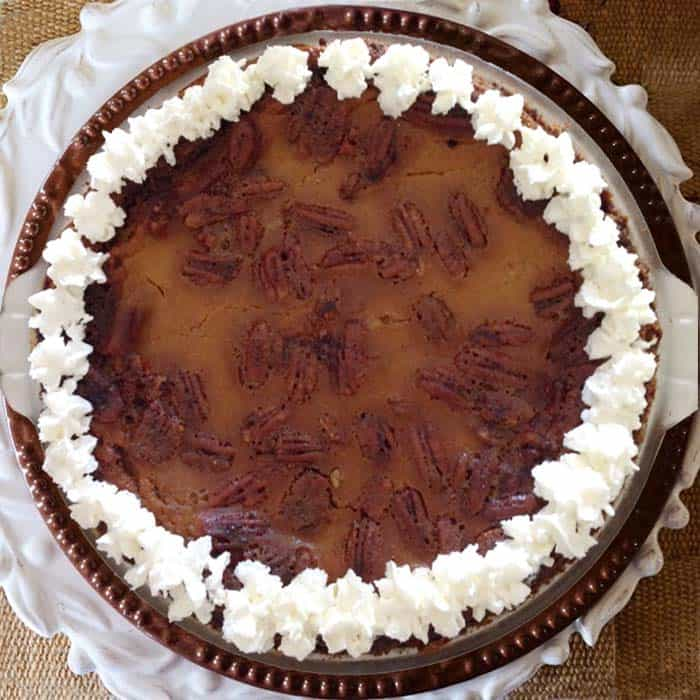 Pumpkin Pecan Pie square | 2 Cookin Mamas